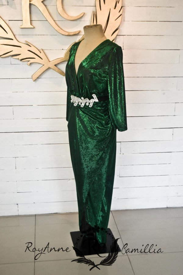 green gown rental by royanne camillia couture manila