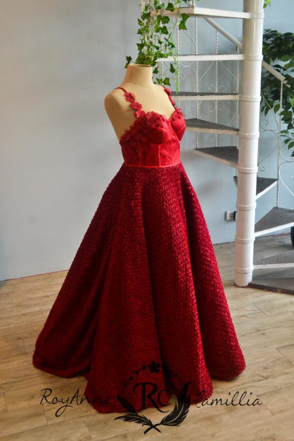 red rental gown by royanne camillia couture manila