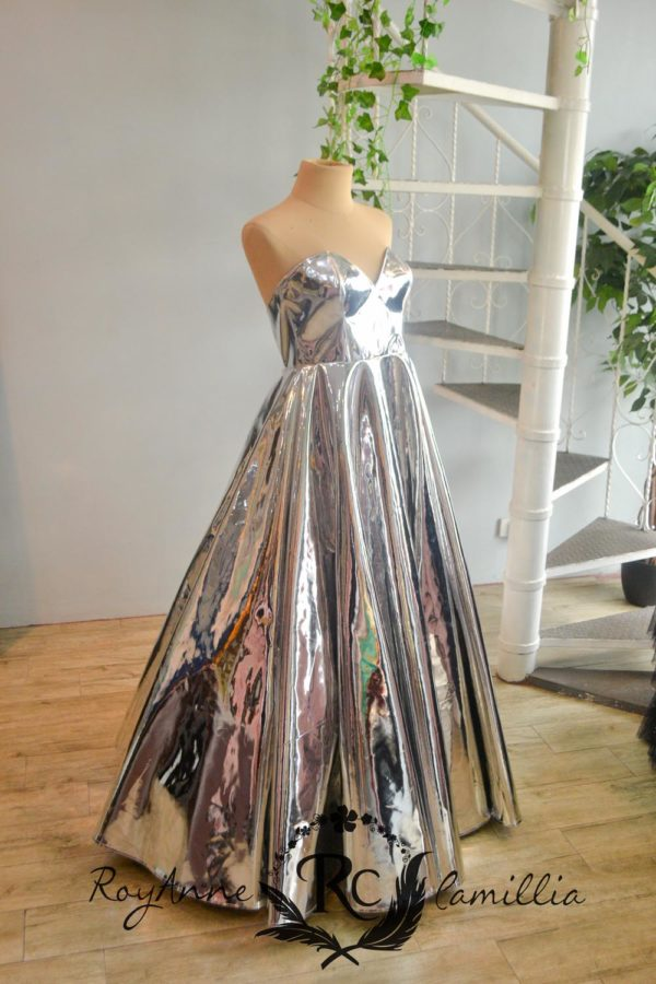 silver gown rental by royanne camillia couture manila