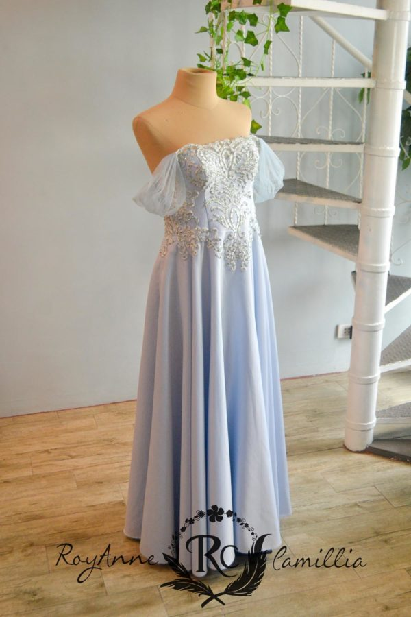 light blue rental gown by royanne camillia couture manila