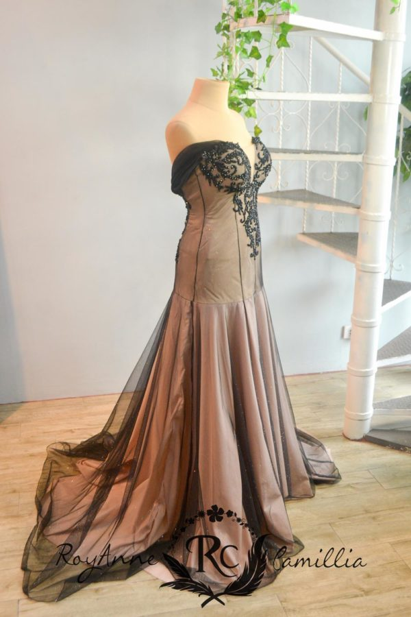 black rental gown illusion by royanne camillia couture manila
