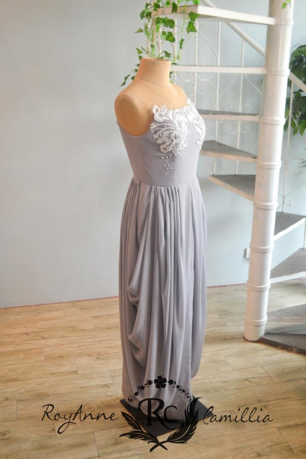 gray gown rental by royanne camillia couture manila