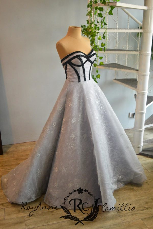 dust blue rental gown by royanne camillia couture manila