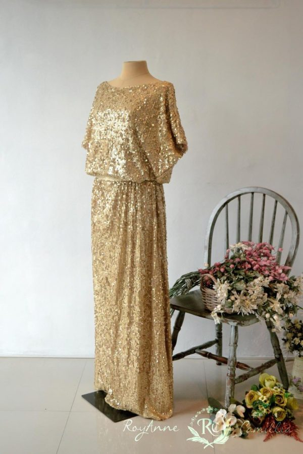 gold gown rental by royanne camillia couture manila